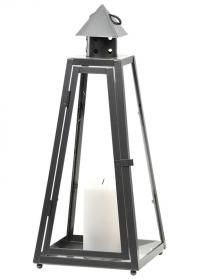 Подсвечник-фонарь металлический напольный Пирамида WL84 Esschert Design фото