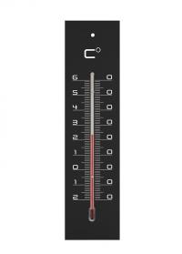 Термометр настенный 22 см. для дома и улицы Medium Black AJS-Blackfox фото