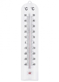 Термометр настенный белый 28 см. White AJS-Blackfox фото