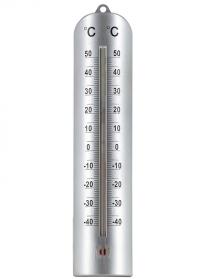 Термометр настенный большой 28 см. для дома и улицы Grey AJS-Blackfox фото