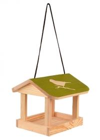 Деревянная подвесная кормушка для птиц Домик FB542 Esschert Design фото