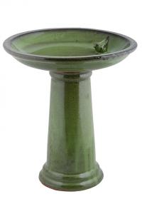 Купальня для птиц керамическая на подставке Green FB424 Esschert Design фото