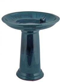Купальня для птиц керамическая на подставке Blue FB422 Esschert Design фото