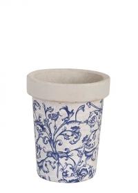 Кашпо для цветов керамическое Aged Ceramic Print Esschert Design