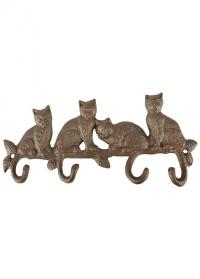Крючок декоративный «Кошки» Esschert Design