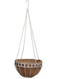 Кашпо для цветов подвесное металлическое с кокосовой вставкой Aged Metal AM21 Esschert Design фото