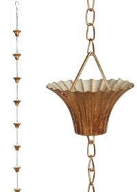 Дождевая цепь Copper TH87 Esschert Design фото