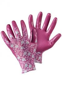 Перчатки садовые с нитрилом «Цветы» Briers