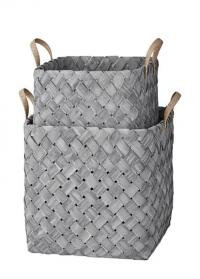 Набор плетеных декоративных корзин в скандинавском стиле Elma Lene Bjerre фото