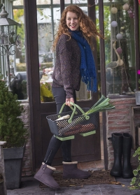 Ботинки угги зимние женские Marron Ankle Boot Cheyenne AJS-Blackfox фото