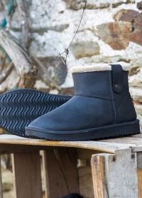 Ботинки угги резиновые утепленные Black Ankle Boot Cheyenne AJS-Blackfox фото