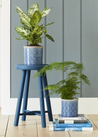 Кашпо керамическое, L  Porto Blue Indoor Pots Collection Burgon & Ball