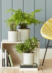 Кашпо керамическое, M  Porto Grey Indoor Pots Collection Burgon & Ball