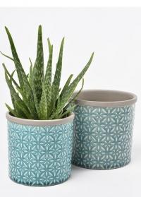 Кашпо керамическое, M  Tuscany Blue Indoor Pots Collection Burgon & Ball