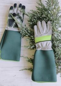 Подарок мужчине-садоводу и розоводу садовые перчатки-краги от AJS-Blackfox (Франция) фото
