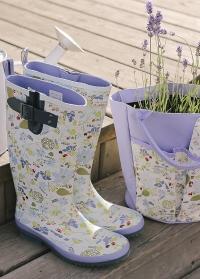 Стильные резиновые сапоги Lavender Garden Briers фото.jpg