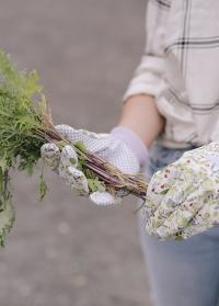 Набор садовых перчаток из хлопка с пупырышками Lavender Garden Briers картинка.jpg