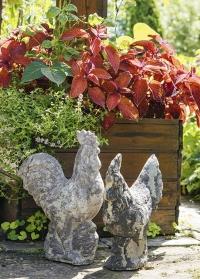 Фигурки садовые керамические Петух и курица AC164 Esschert Design фото