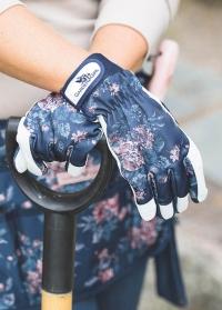 Садовые перчатки из козьей кожи GardenGirl Classic Navy фото