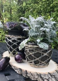 Керамическое кашпо в корзинке для растений Rina Lene Bjerre фото
