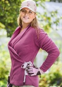 Одежда для флориста флисовый жакет с запахом WF02 GardenGirl Classic Collection фото.jpg