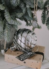 Фигурка декоративная артишок серебро Lene Bjerre фото.jpg