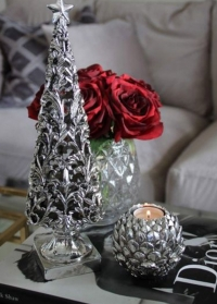 Подсвечник новогодний серебряный Атишок Lene Bjerre фото.jpg
