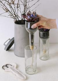 Стеклянный мини горшок для цветов с поливом AGG46 Esschert Design фото.jpg