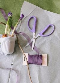 Ножницы японские флористические для цветов Florist Violet Chikamasa фото