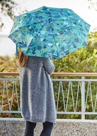 Зонт складной с ботаническим принтом Brie Harrison Burgon & Ball фото.jpg