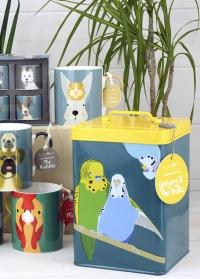 Контейнер для хранения корма для птиц Budgie Tin Creaturewares Burgon Ball фото.jpg