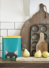 Контейнер для хранения корма для кошек Cat Creaturewares Burgon Ball фото.jpg