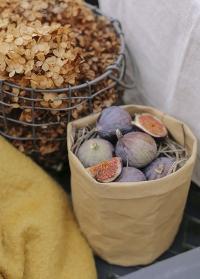 Декоративный эко крафт мешок для хранения 25 см Caia Grey Lene Bjerre