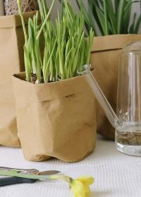 Декоративный эко крафт мешок для хранения 20 см Caia Lene Bjerre