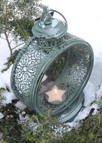 Свечной фонарь круглый WL61 Green Esschert Design фото.jpg