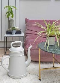Голландская садовая лейка пластиковая для полива цветов 12 л. Light Grey Lungo Xala фото