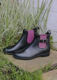 Ботинки челси резиновые женские Black Delia французского бренда AJS-Blackfox фото