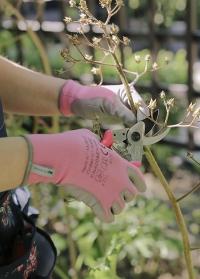 Перчатки тонкие для цветов и работы в саду Pink Colors AJS-Blackfox фото
