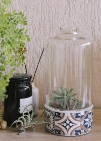 Кашпо для цветов со стеклянным колпаком Portuguese AC180 Esschert Design фото