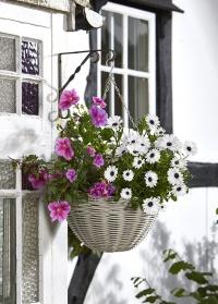 Кашпо подвесное для цветов из искусственного ротанга Seashell Smart Garden фото