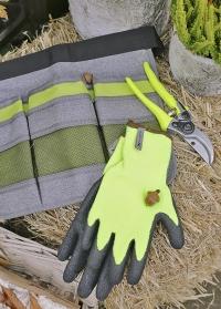 Перчатки защитные утепленные для строительства и садоводства Isomax Ajs Blackfox фото
