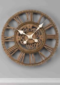 Часы настенные скелетоны Newby Bronze Smart Garden фото