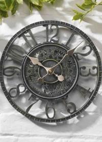 Часы настенные скелетоны Newby Verdigris Smart Garden фото