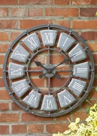 Уличные настенные часы большие лофт Lincoln Smart Garden фото