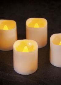 Свечи светодиодные Led 4.2 см в наборе из 4 шт. Flameless Pillar Smart Garden фото