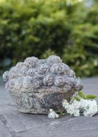 Декоративная садовая фигурка Корзина с цветами Aged Ceramic AC147 Esschert Design фото