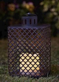Фонарь со светодиодной свечой Cairene Smart Garden фото