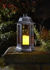Фонарь со светодиодной свечой Nordic Silver Smart Garden фото