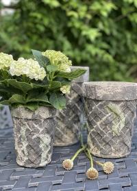 Цветочные горшки из состаренной керамики Aged Ceramic AC160 от Esschert Design фото
