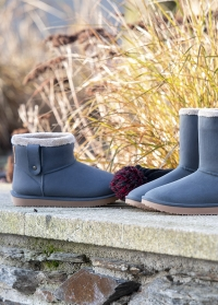 Ботинки угги зимние резиновые Ankle Boots Cheyenne Anthracite французского бренда AJS Blackfox фото.jpg